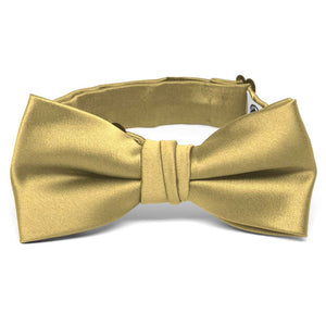 Boys' Light Gold Premium Bow Tie