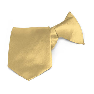 Boys' Pale Gold Solid Color Clip-On Tie
