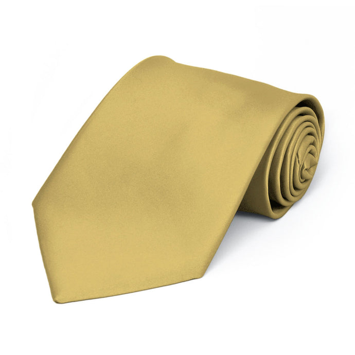 Boys' Light Gold Premium Solid Color Tie