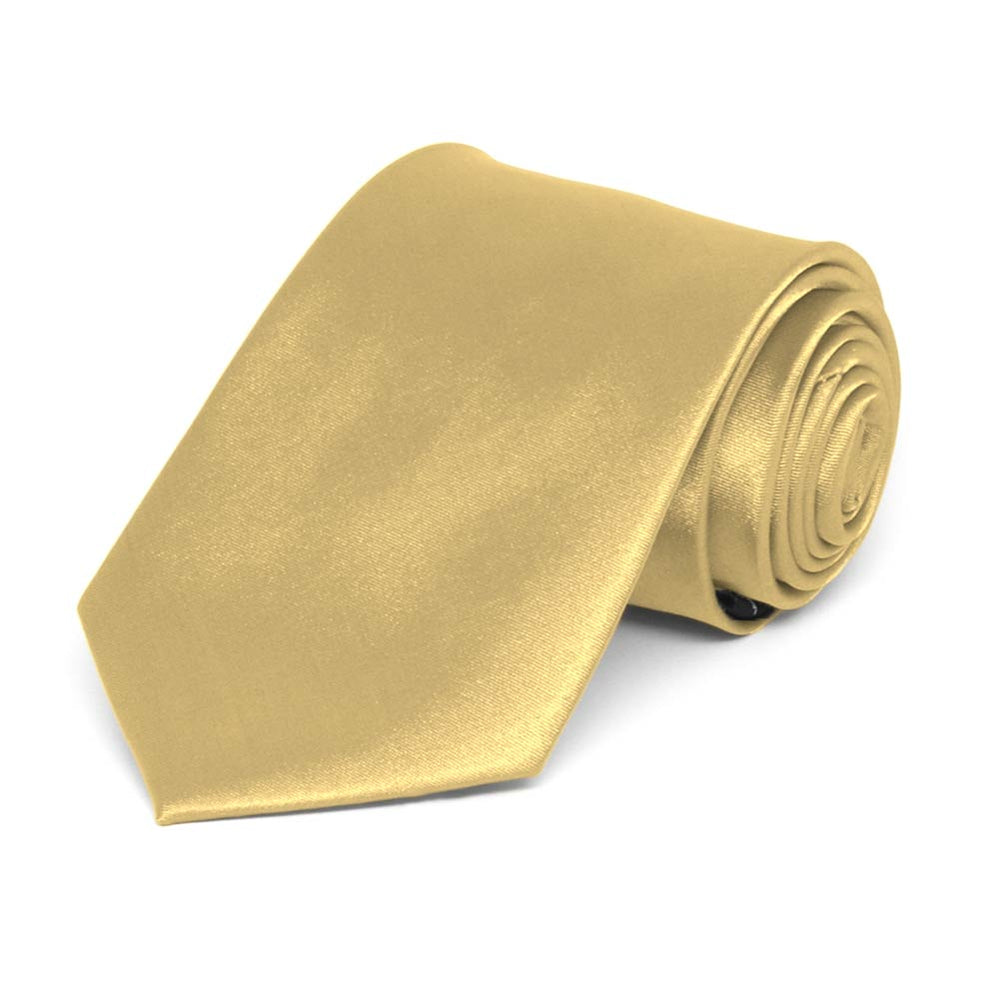 Boys' Pale Gold Solid Color Necktie