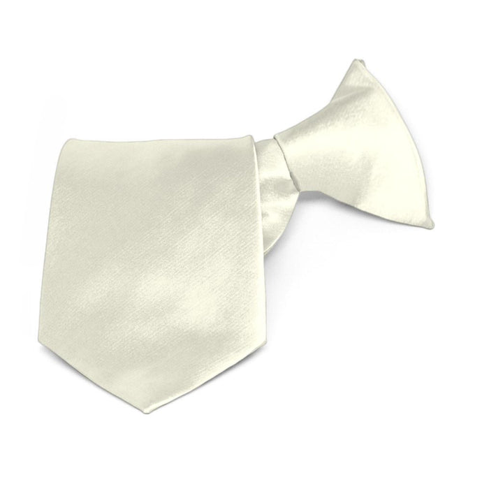 Boys' Pearl Solid Color Clip-On Tie