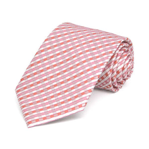 Boys' Perfect Pink George Plaid Necktie