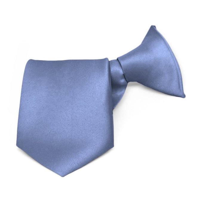 Boys' Periwinkle Solid Color Clip-On Tie
