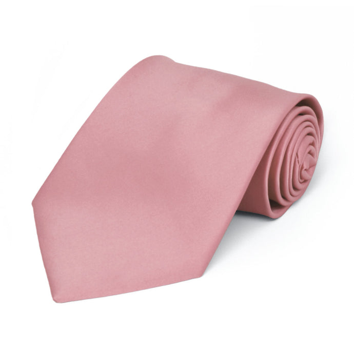 Boys' Pink Champagne Premium Solid Color Tie