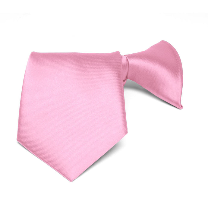 Boys' Pink Solid Color Clip-On Tie