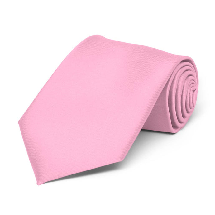 Boys' Pink Solid Color Necktie