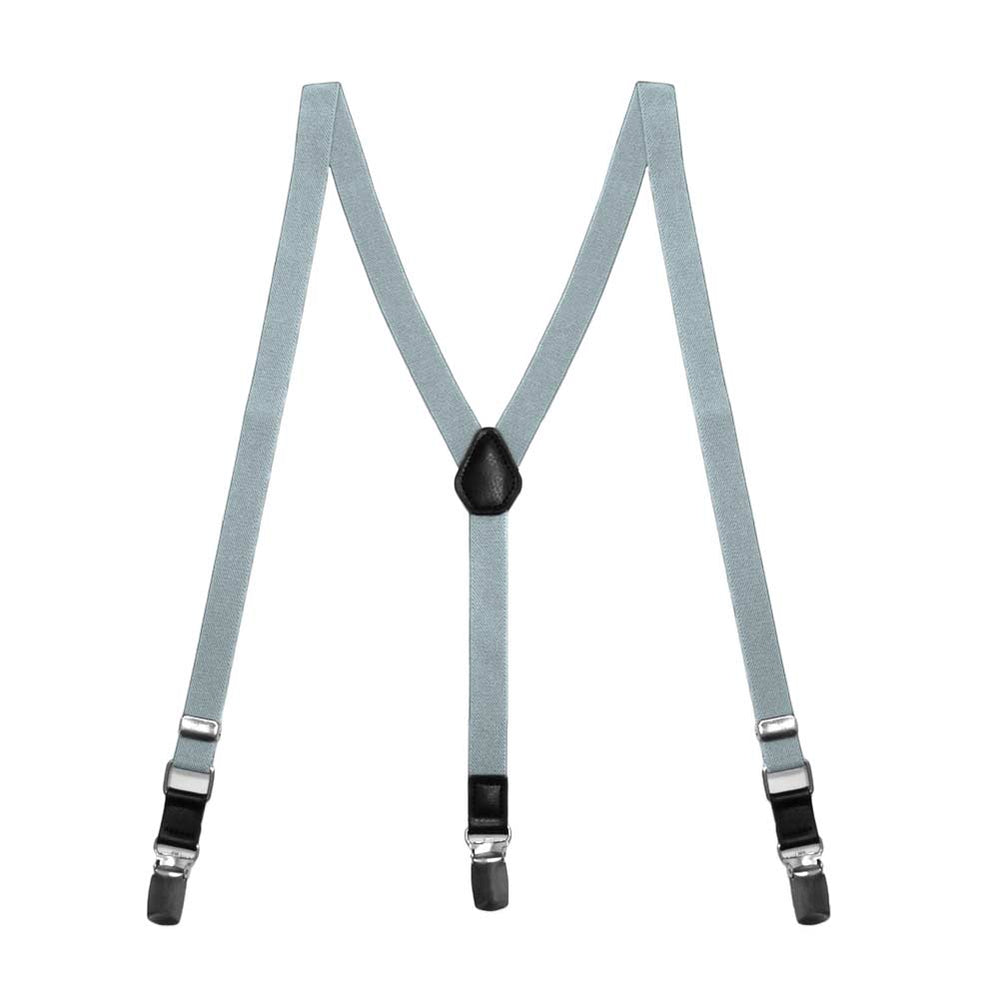 Boys' Platinum Gray Skinny Suspenders