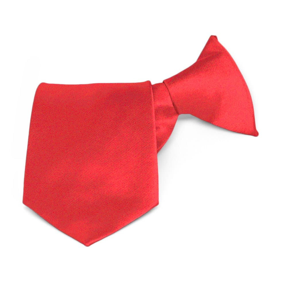 Boys' Poppy Solid Color Clip-On Tie