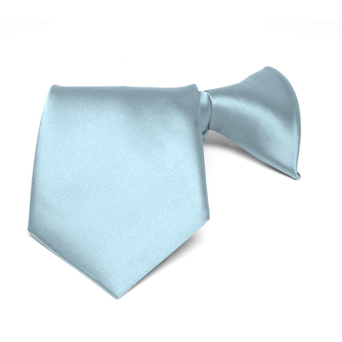 Boys' Powder Blue Solid Color Clip-On Tie