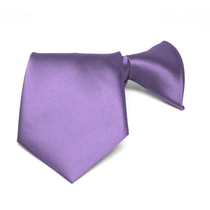 Boys' Purple Solid Color Clip-On Tie