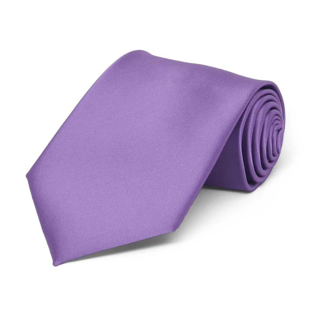 Boys' Purple Solid Color Necktie