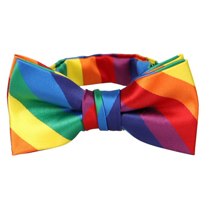 Boys' Rainbow Striped Bow Tie