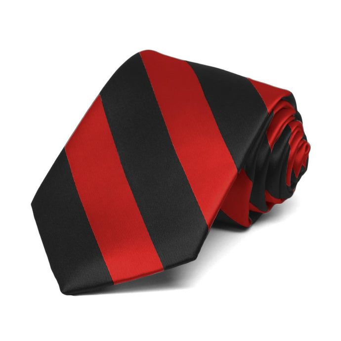 Boys' Red and Black Striped Tie