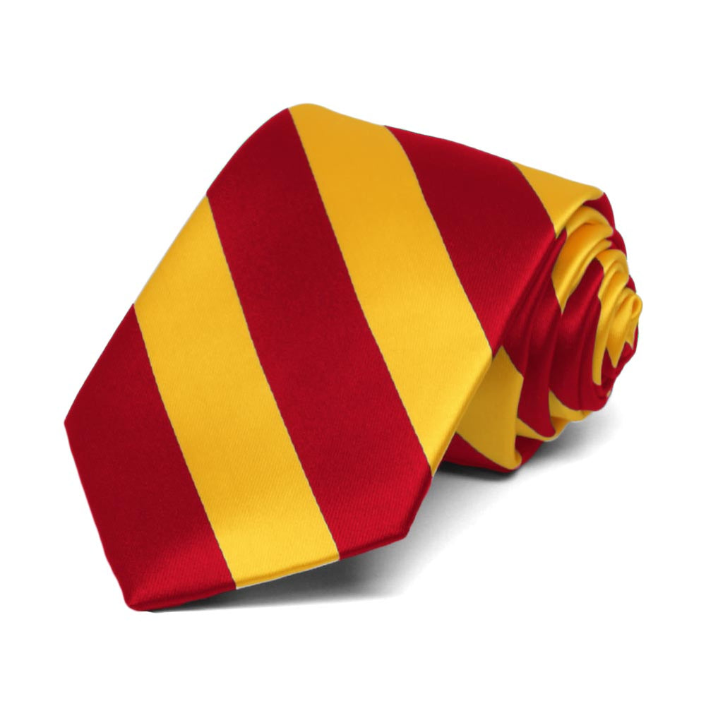 Boys' Red and Golden Yellow Striped Tie