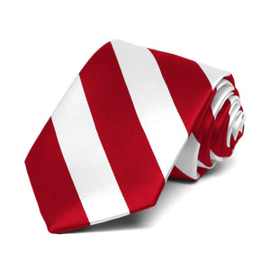 Boys' Red and White Striped Tie