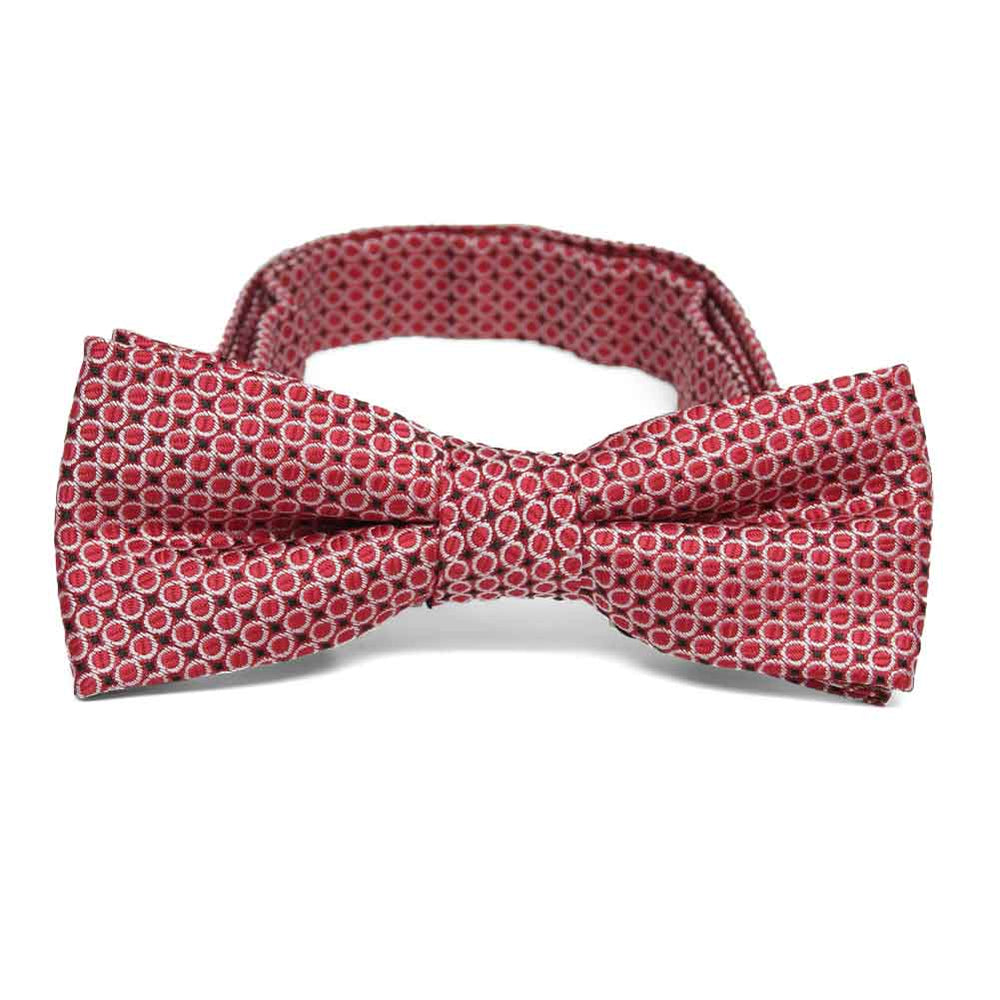 Boys' Red Henry Grain Pattern Bow Tie