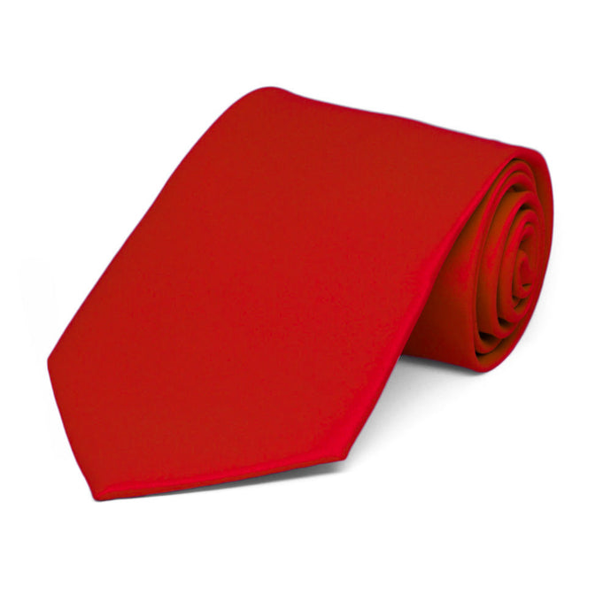 Boys' Red Solid Color Necktie