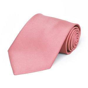Boys' Rose Petal Pink Premium Solid Color Tie