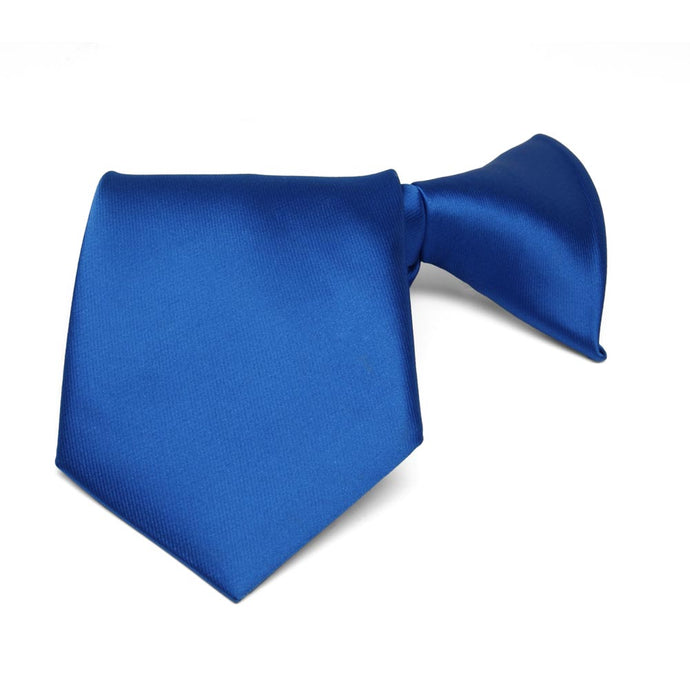 Boys' Royal Blue Solid Color Clip-On Tie