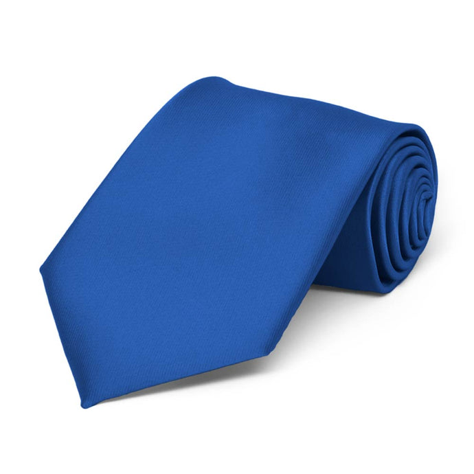 Boys' Royal Blue Solid Color Necktie