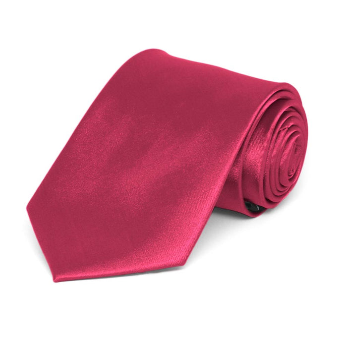 Boys' Ruby Red Solid Color Necktie