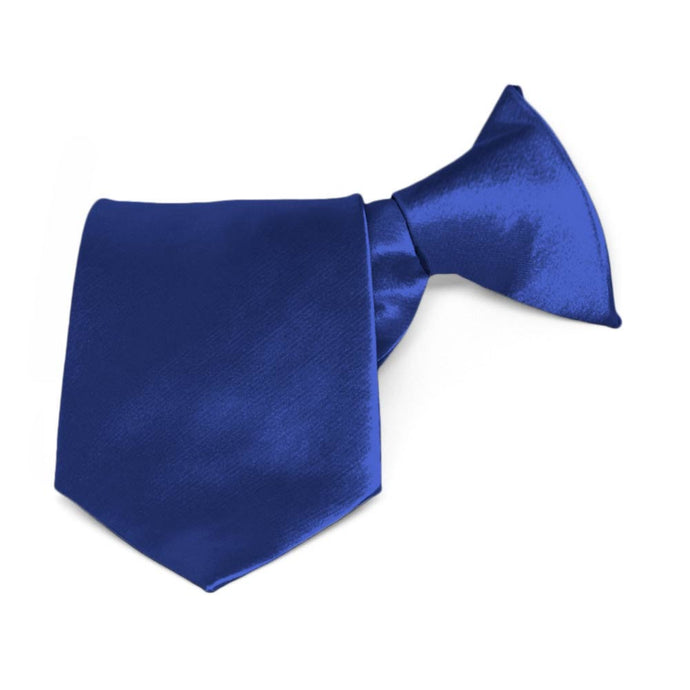 Boys' Sapphire Blue Solid Color Clip-On Tie