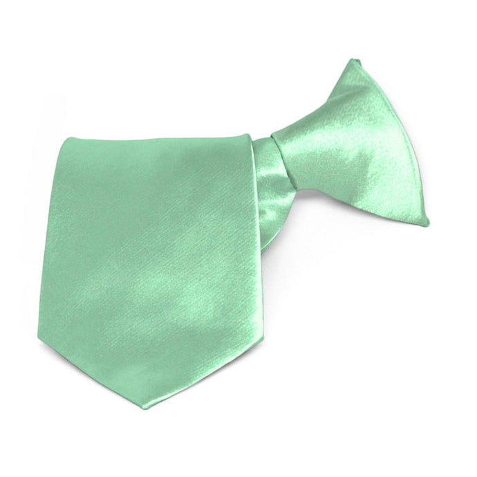 Boys' Seafoam Solid Color Clip-On Tie
