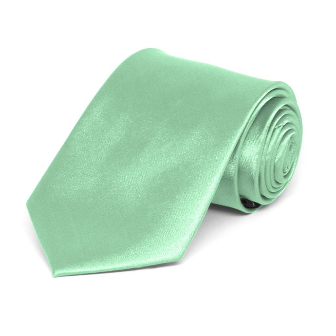Boys' Seafoam Solid Color Necktie