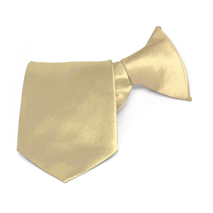 Boys' Sparkling Champagne Solid Color Clip-On Tie