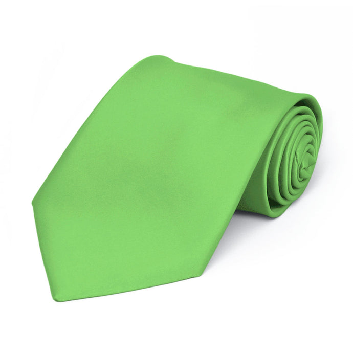 Boys' Spring Green Premium Solid Color Tie