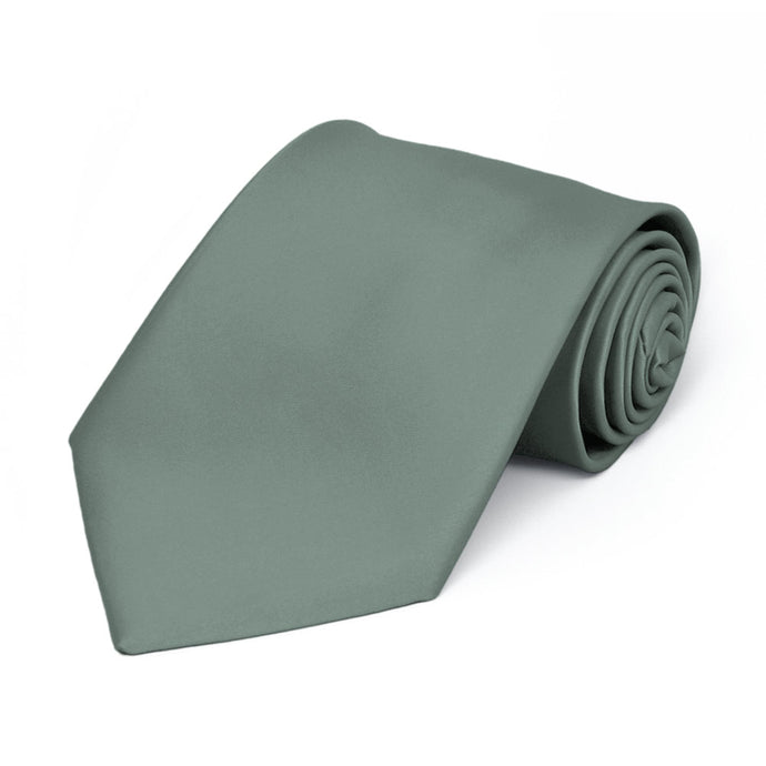 Boys' Stormy Gray Premium Solid Color Tie