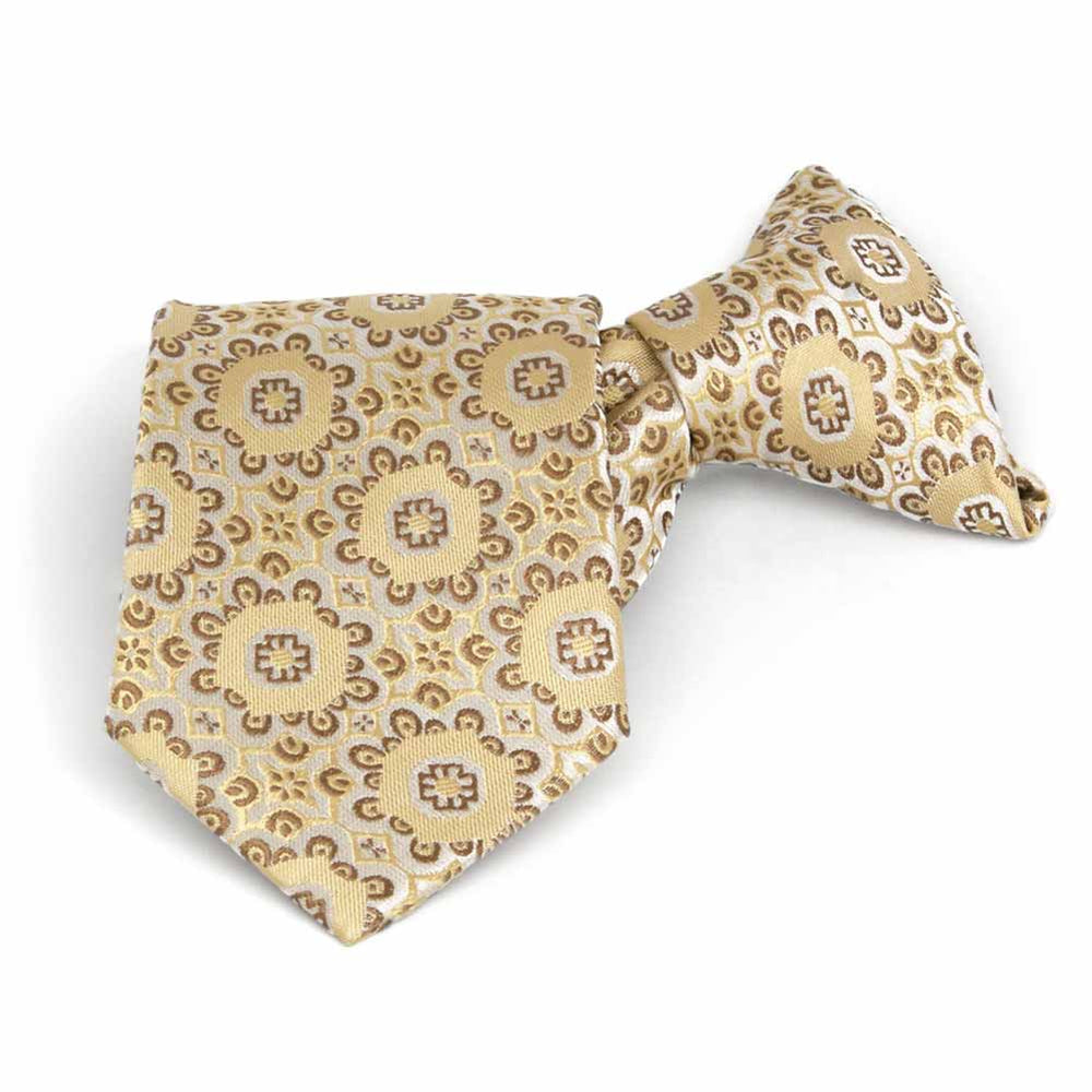 Boys' Straw Emma Floral Pattern Clip-On Tie