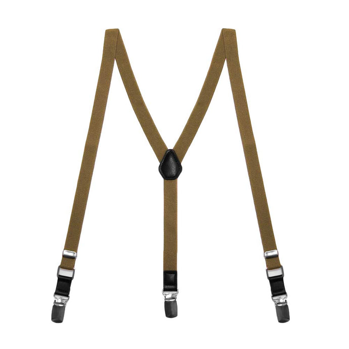 Boys' Tan Skinny Suspenders