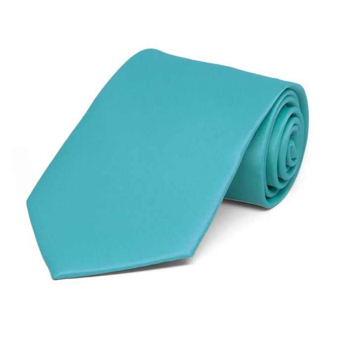 Boys' Turquoise Solid Color Necktie