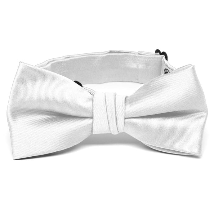 Boys' White Premium Bow Tie