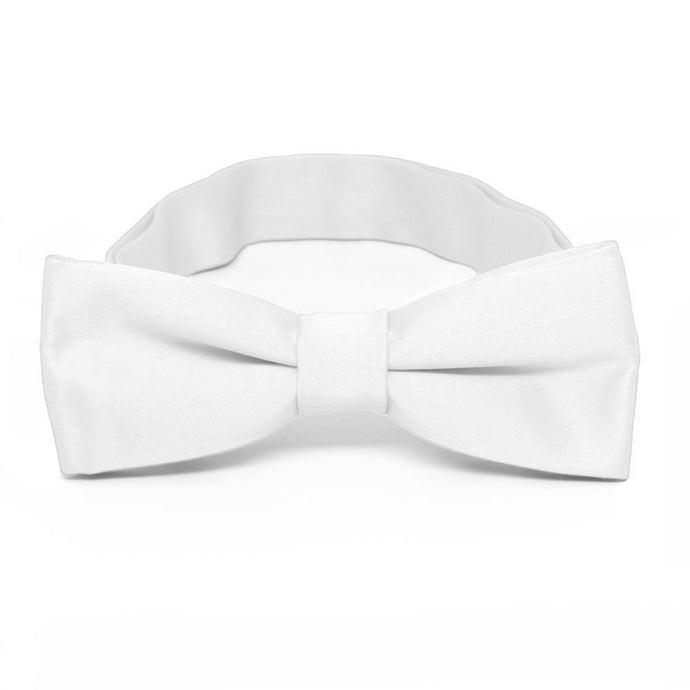 Boys' White Bow Tie
