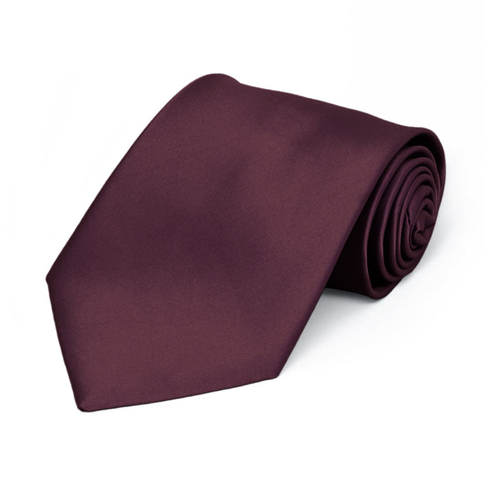 Boys' Wine Premium Solid Color Tie