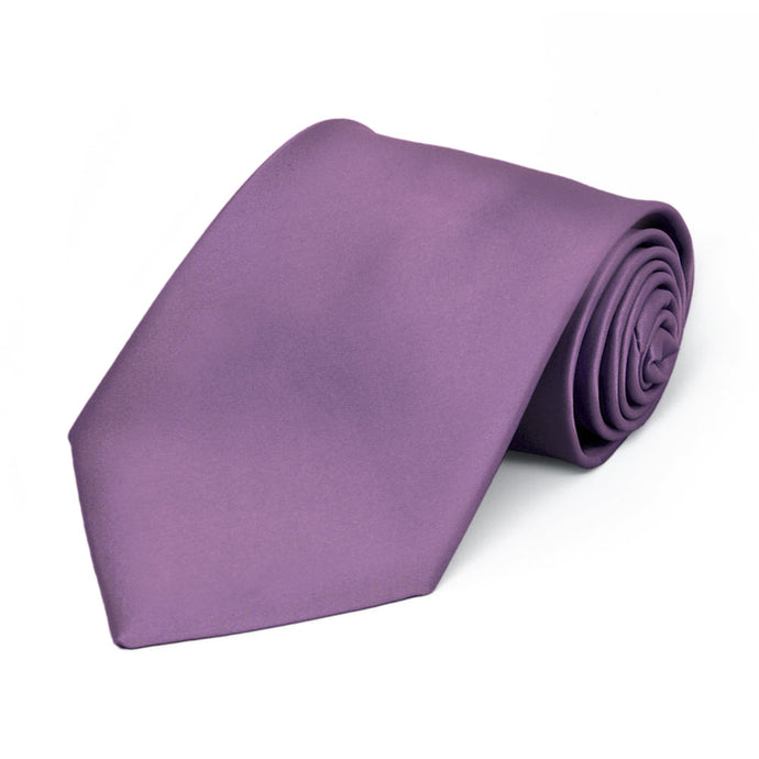 Boys' Wisteria Purple Premium Solid Color Tie
