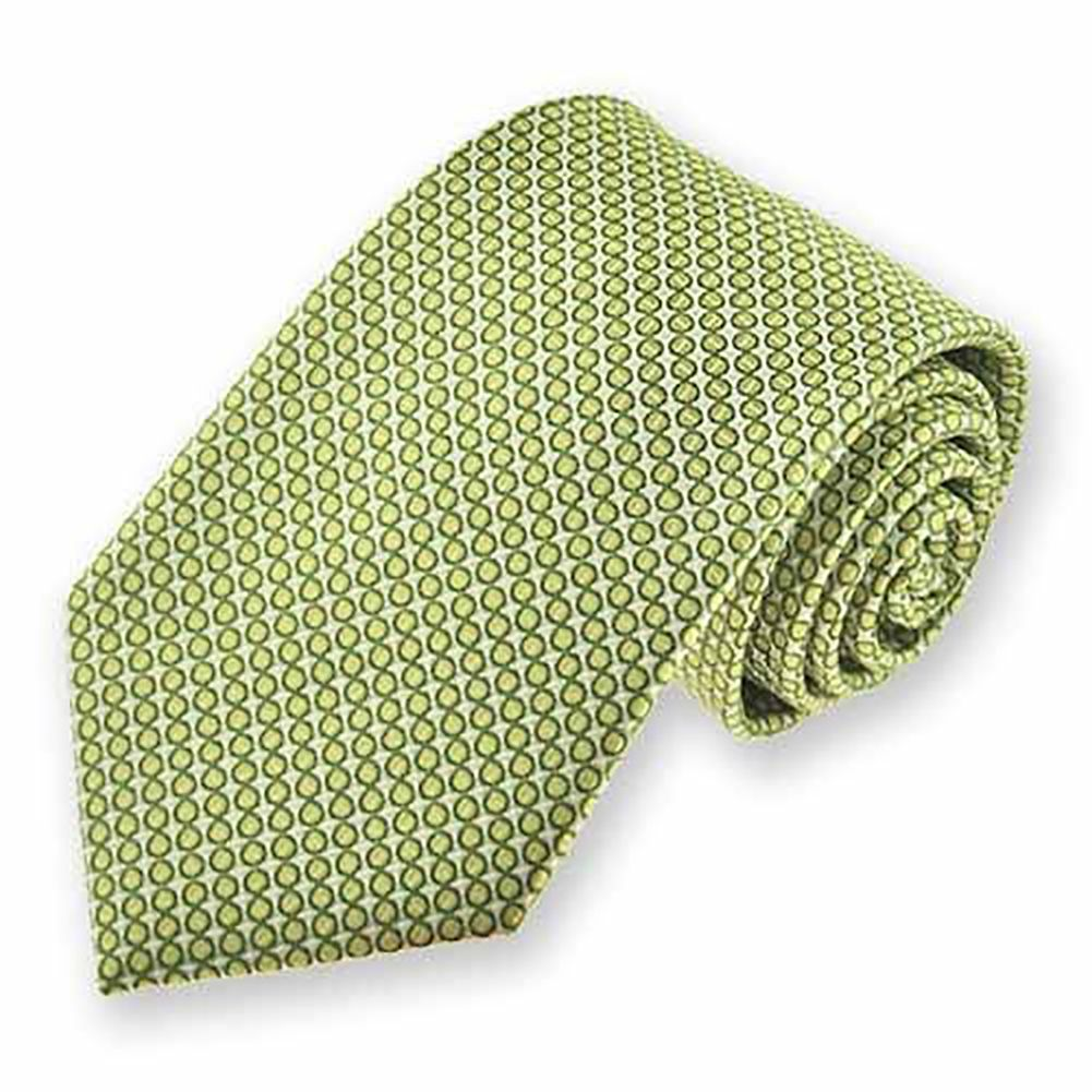 Tiemart Apple Green Henry Grain Pattern Floppy Bow Tie