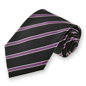 Boys' Black Melvin Stripe Necktie