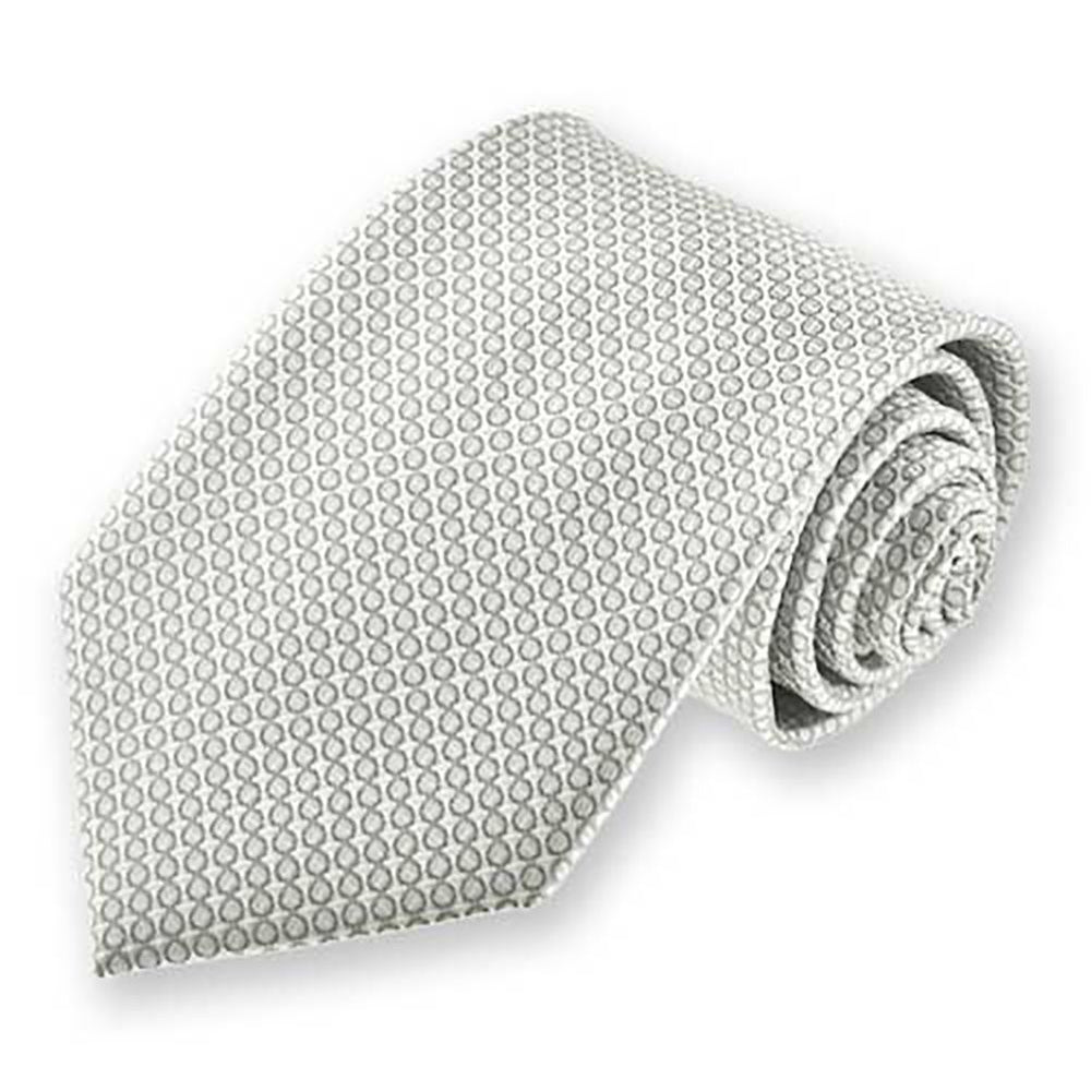 Boys' Soft Gray Henry Grain Pattern Necktie