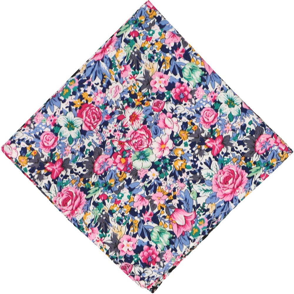 Brentwood Floral Cotton Pocket Square
