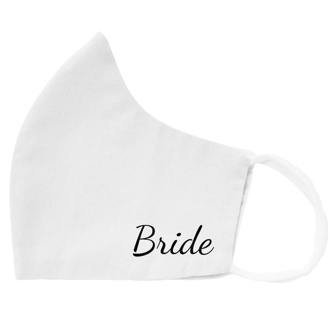 Bride Face Mask in white