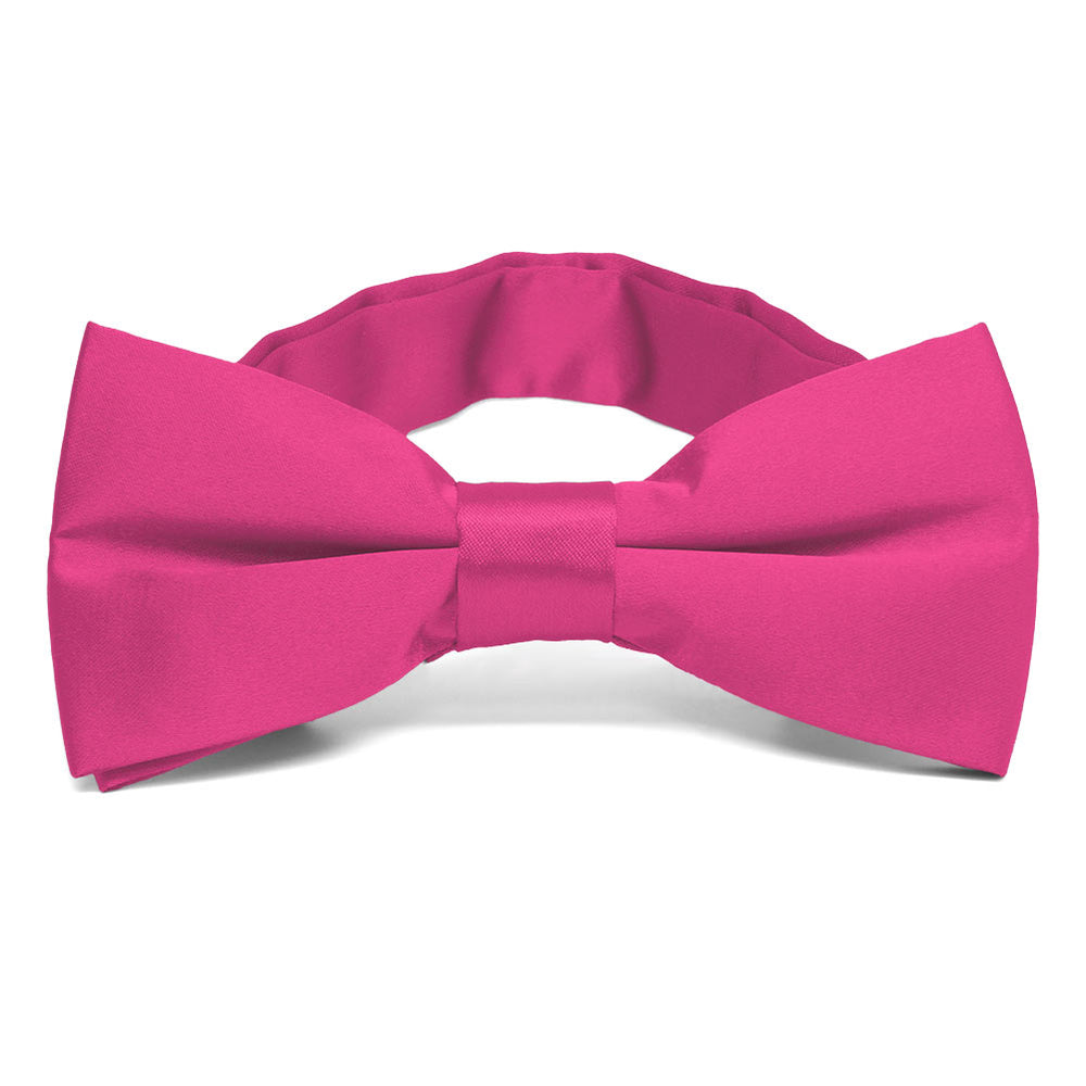 Bright Fuchsia Band Collar Bow Tie