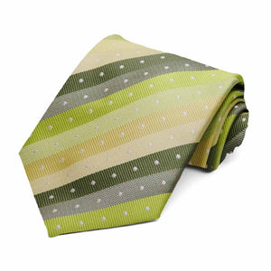Bright green spring striped tie