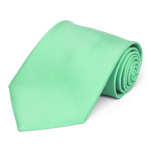 Bright Mint Premium Extra Long Solid Color Necktie