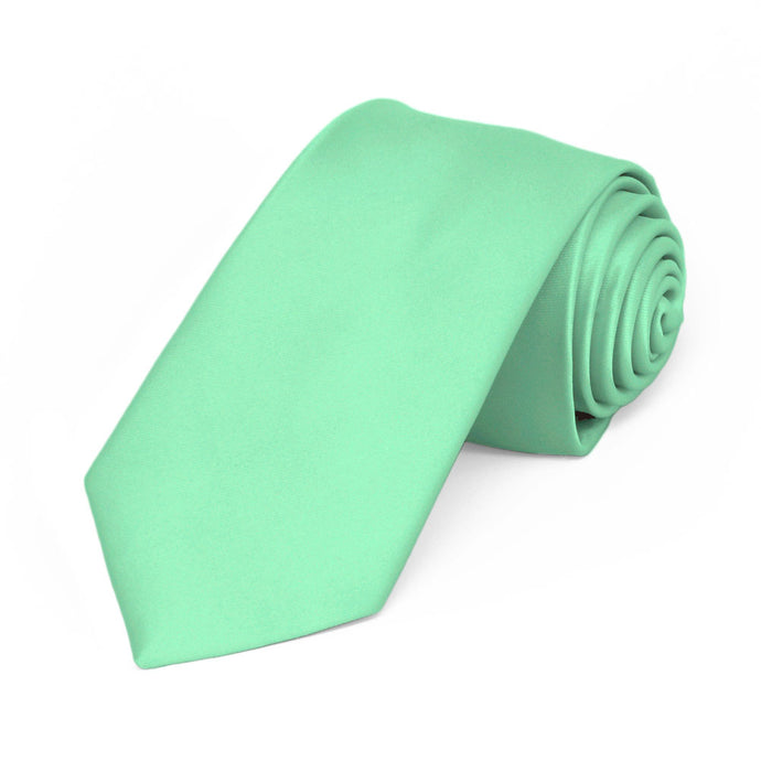 Bright Mint Premium Slim Necktie, 2.5