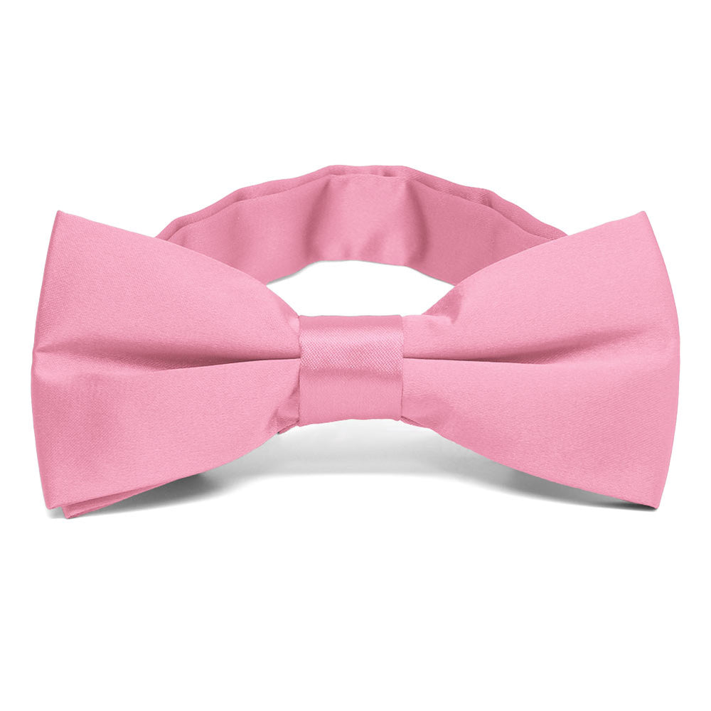 Bright Pink Band Collar Bow Tie