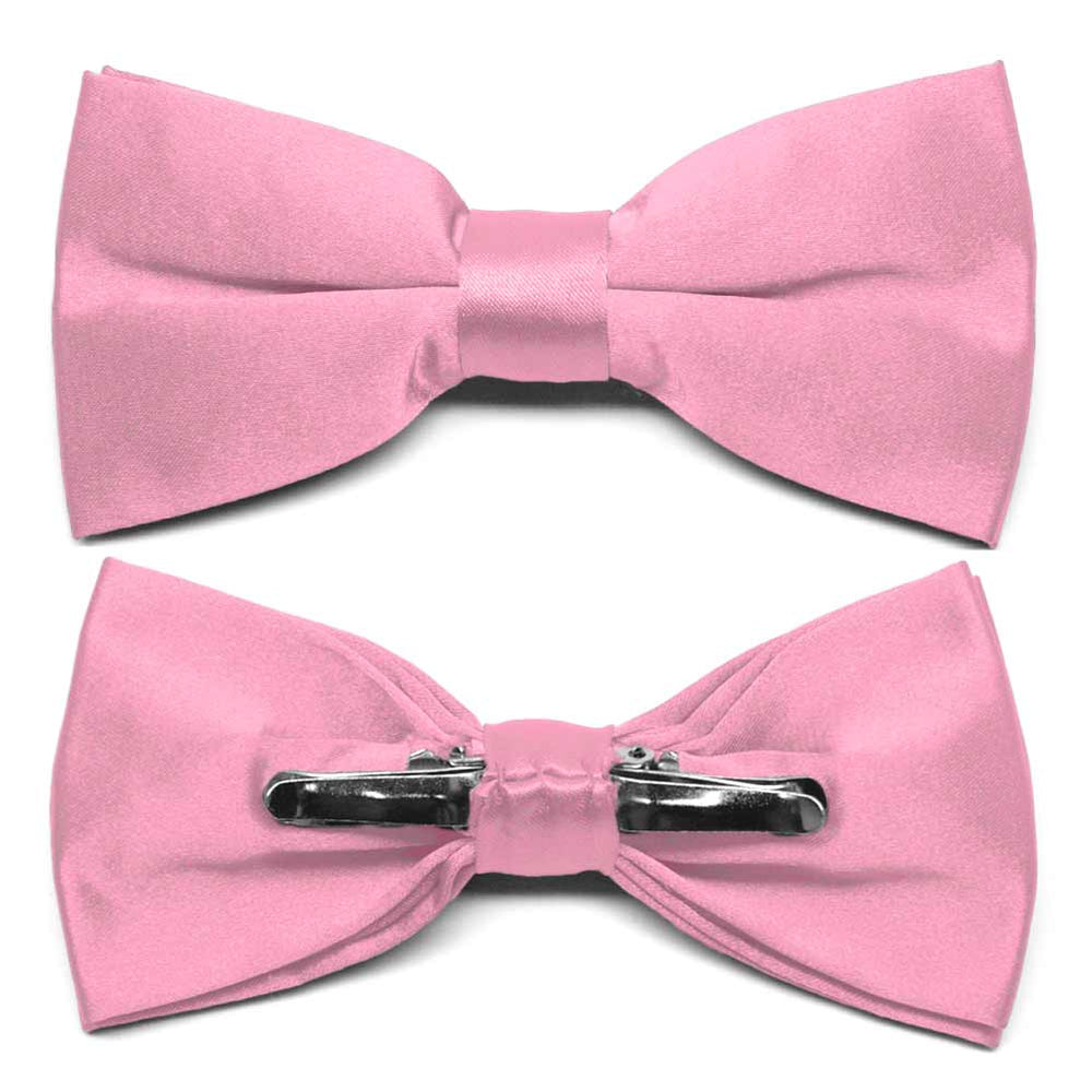 Bright Pink Clip-On Bow Tie