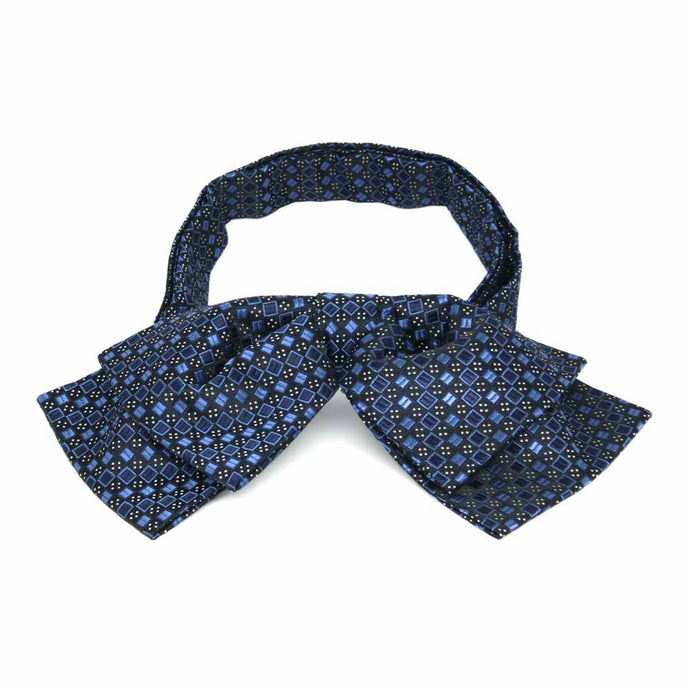 Brilliant Blue Marie Square Pattern Floppy Bow Tie